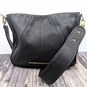 - Steve Madden Black Studded Large Shoulder Bag